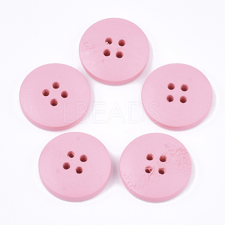 Painted Wooden ButtonsX-WOOD-Q040-001C-1