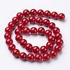 Natural Mashan Jade Round Beads StrandsX-G-D263-10mm-XS31-3