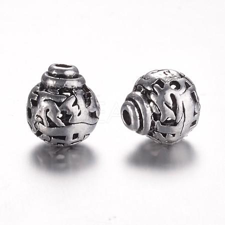 Tibetan Style Alloy 3-Hole Guru BeadsX-PALLOY-YC45781-AS-1