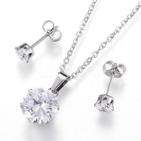 304 Stainless Steel Jewelry SetsSJEW-H054-05-1