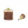 Natural Citrine Openable Perfume Bottle PendantsG-E556-18B-3