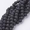 Natural Lava Rock Beads StrandsX-G-E005-1-1
