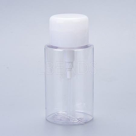 Vacuum Lotion PET Plastic Push Down Empty Lockable Pump Dispenser BottleMRMJ-L016-001-1