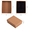 Kraft Cotton Filled Cardboard Paper Jewelry Set BoxesCBOX-R036-11A-3