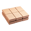 Kraft Cotton Filled Cardboard Paper Jewelry Set BoxesCBOX-R036-11A-1