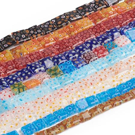 Handmade Millefiori Glass Bead StrandsLK-F009-03-1