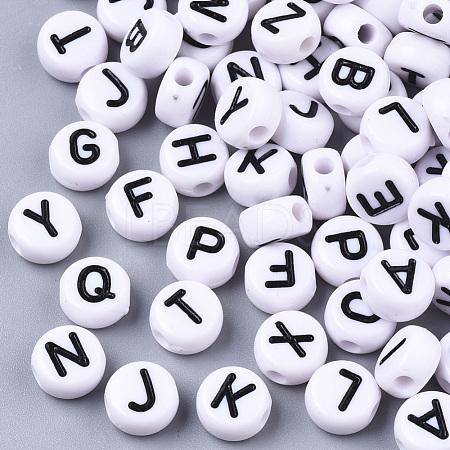 White Opaque Acrylic BeadsX-SACR-R249-01M-1