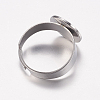 Adjustable 304 Stainless Steel Finger Rings ComponentsSTAS-I097-039P-3
