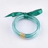 PVC Plastic Bangle SetsBJEW-T008-09P-1
