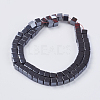 Non-magnetic Synthetic Hematite Beads Strands X-G-H1076-1-2