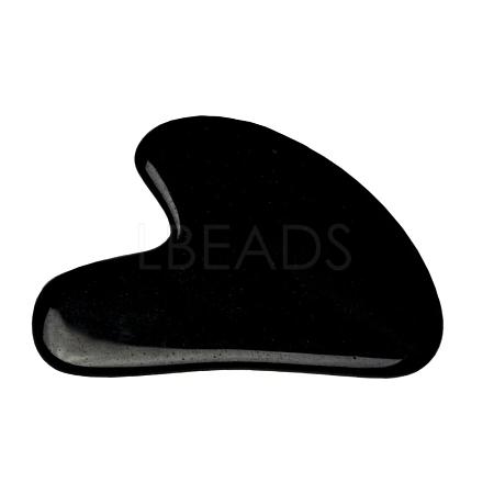 Natural Black Obsidian Gua Sha BoardsG-J306-03C-1