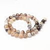 Natural Striped Agate/Banded Agate Bead StrandsX-G-K155-A-8mm-13-2