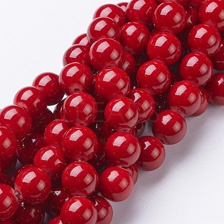Natural Mashan Jade Round Beads StrandsX-G-D263-10mm-XS31-1