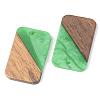 Opaque Resin & Walnut Wood PendantsRESI-S389-049A-C03-2
