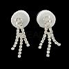 Fashionable Wedding Rhinestone Necklace and Stud Earring Jewelry SetsSJEW-R046-10-7