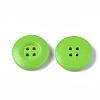 4-Hole Spray Painted Wooden ButtonsX-BUTT-T006-015-2