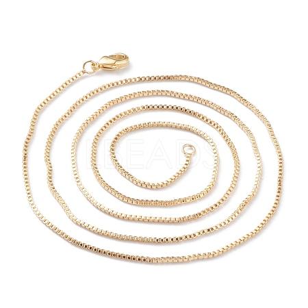 Brass Box Chain Necklace MakingKK-A149-16G-1