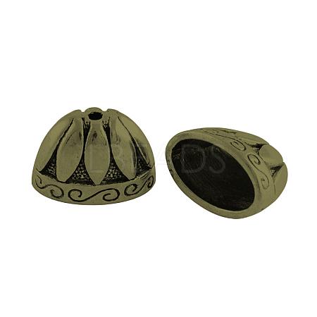 Tibetan Style Alloy Bead CapsX-TIBE-976-AB-FF-1