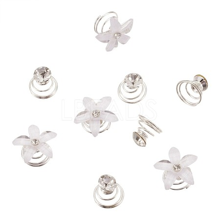 Spiral Shape Hair Braid Rings OHAR-TA0001-03-1