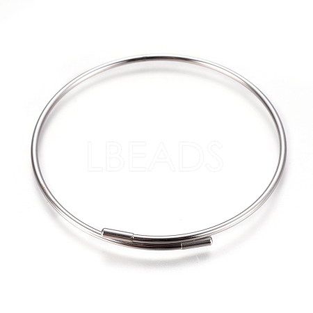 Adjustable 304 Stainless Steel Bangles MakingMAK-I013-02-P-1