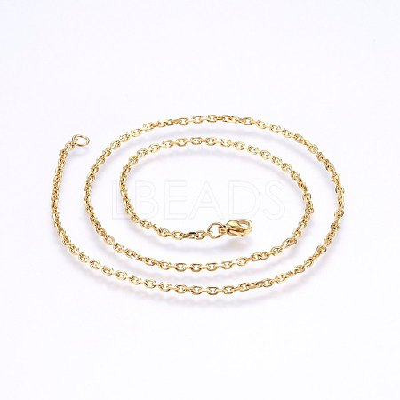 304 Stainless Steel Cable Chain NecklacesNJEW-P226-01G-02-1