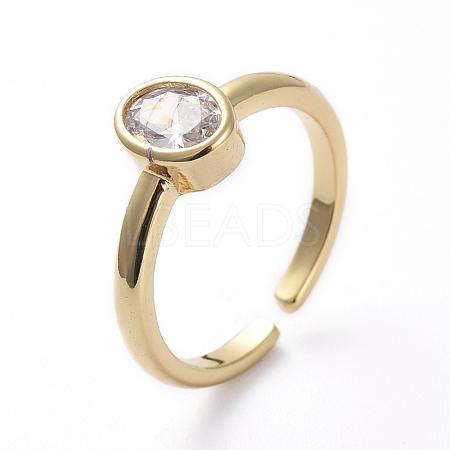 Adjustable Brass Cuff Finger RingsRJEW-G096-04G-1