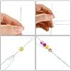 Iron Collapsible Big Eye Beading NeedlesTOOL-R095-03-4