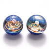 Universe Galaxy Starry Night Transparent Epoxy Resin Beads X-RESI-N024-008-3
