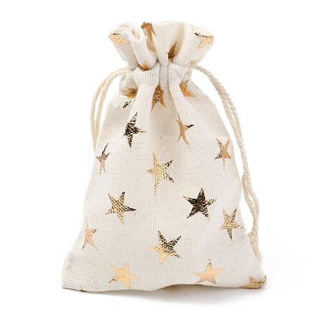 Christmas Theme Cotton Fabric Cloth BagABAG-H104-B01-1