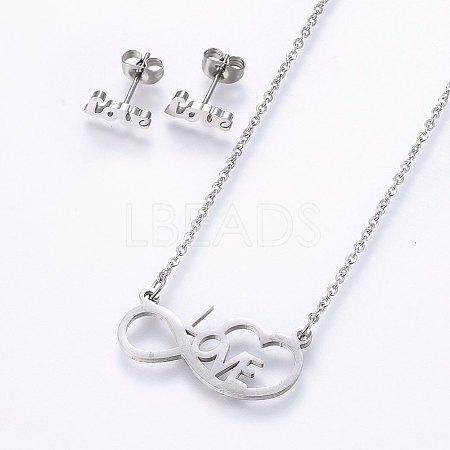 304 Stainless Steel Jewelry SetsSJEW-O090-27P-1