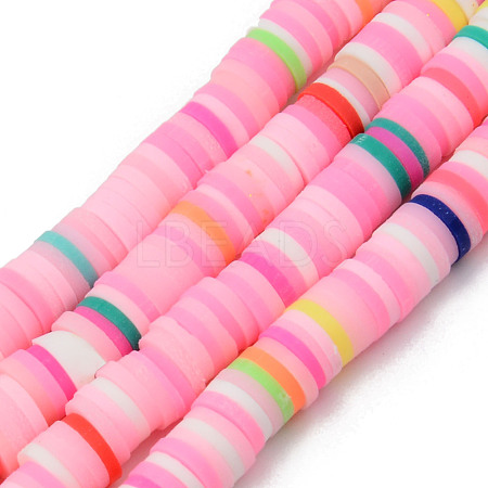 Handmade Polymer Clay Beads StrandsCLAY-R089-6mm-098-1