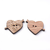 2-Hole Wooden Sewing ButtonsX-WOOD-S037-057-2