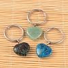 Heart Mixed Stone KeychainKEYC-JKC00057-1