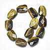 Natural Tiger Eye Beads Strands G-T122-01F-2