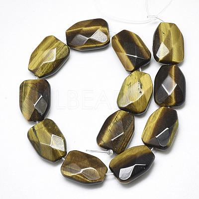 Natural Tiger Eye Beads StrandsG-T122-01F-1
