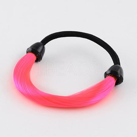 Girls' Carnival Nylon Wig Elastic Hair TiesOHAR-R204-02-1