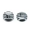 4-Hole Stripe Resin ButtonsX-BUTT-S019-01-2