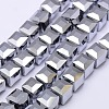 Faceted Cube Shaped Crystal Glass Beads StrandsEGLA-F016-C01-2
