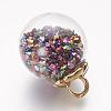 Glass Ball PendantsGLAA-P031-01-2