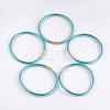 PVC Plastic Bangle SetsBJEW-T008-09P-2