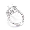 Adjustable Brass Finger Ring ComponentsMAK-F030-17P-B-3