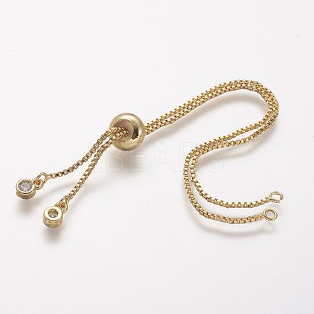 Rack Plating Brass Chain Bracelet MakingX-KK-A142-017G-1