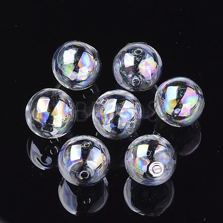 Handmade Blown Glass Globe BeadsX-DH017J-1-12mm-AB-1