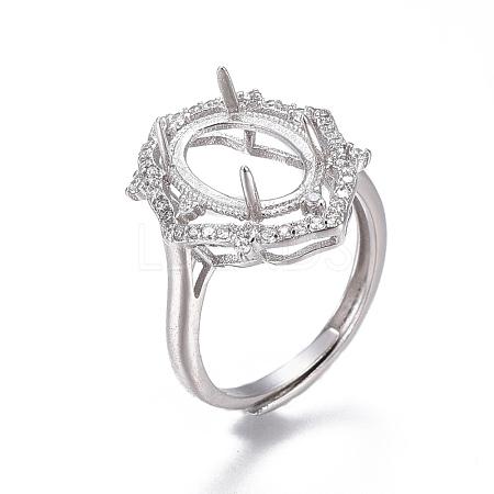 Adjustable Brass Finger Ring ComponentsMAK-F030-17P-B-1