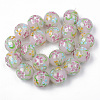 Handmade Lampwork Beads Strands LAMP-N021-014-2