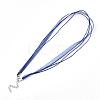 Waxed Cord and Organza Ribbon Necklace MakingX-NCOR-T002-227-2