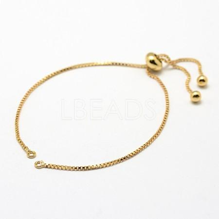 Brass Box Chain Bracelet MakingKK-G284-01G-NR-1