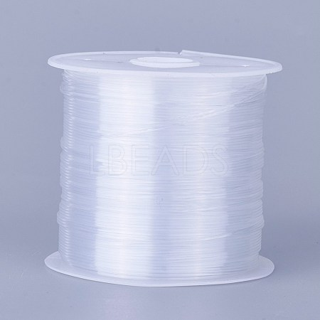 0.6mm White Tone Beading Nylon Wire Fishing Line Wire X-NWIR-R0.6MM-1
