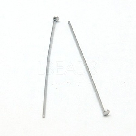 Jewelry Tools and Equipment Decorative Stainless Steel Flat Head PinsX-STAS-E023-0.6x30mm-1