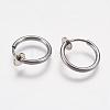 304 Stainless Steel Retractable Clip-on Hoop EarringsSTAS-I097-078P-2